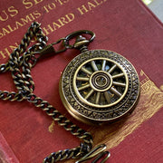 Brass Mechanical Pocket Watch 18 -on Fob or Necklace