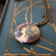 Brass Woman Locket Necklace