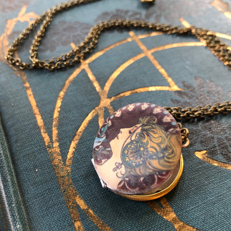 Brass Woman Locket