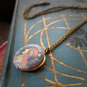 Brass Lady Locket