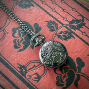 Pocket Watch Necklace in Silver or Gunmetal