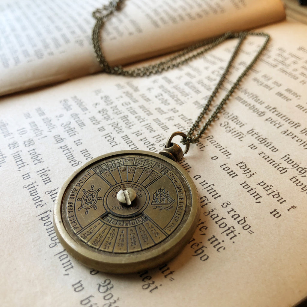 Nautical Calendar Necklace