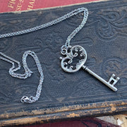 Bronze Skeleton Key Necklace