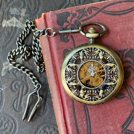 Koi Pocket Watch- on Necklace or Pocket Chain