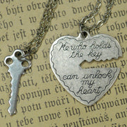 He Who Holds The Key.. 2 necklace set - Brass
