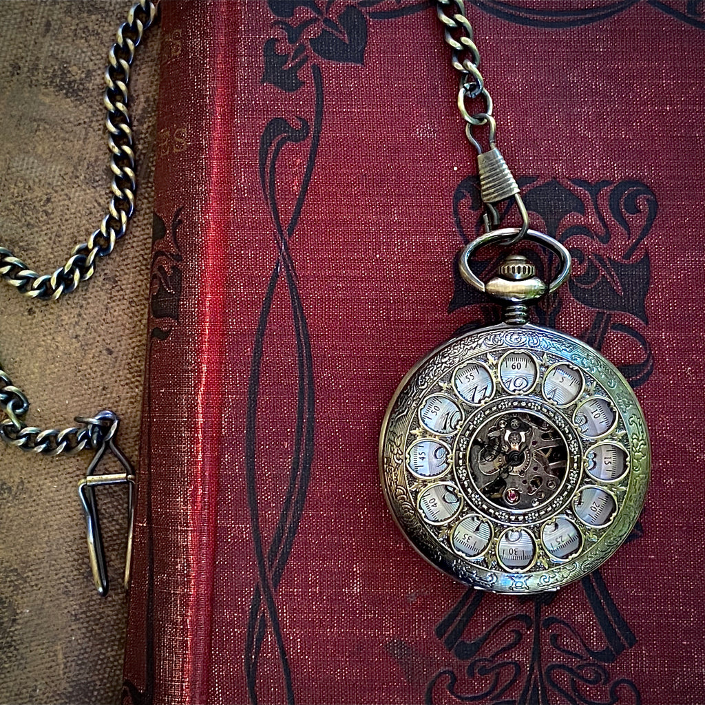 Mechanical Pocket Watch -on Pocket Chain or Necklace