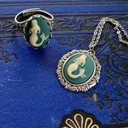Mermaid Cameo Necklace