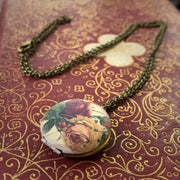Brass Rose Locket