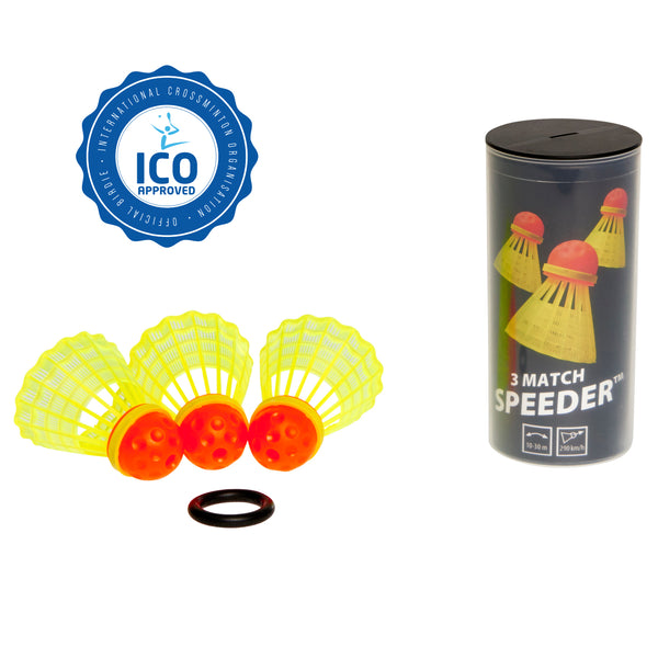 Speedminton® MATCH 3pk Speeder™ Tube