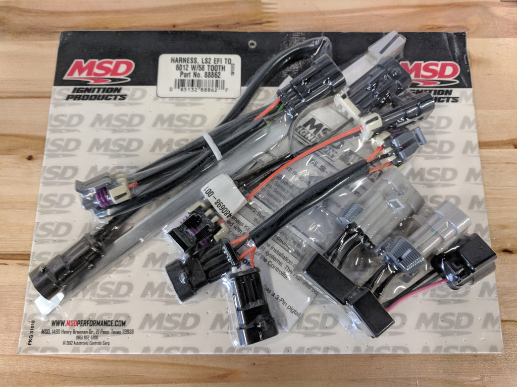 MSD Wiring Harness LS2, LS7 OEM EFI Distributorless Ignition 6012 GM on