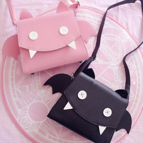 Black/Pink Little Devil Shoulder Bag SB6382 - KAWAII COLLECTIONS