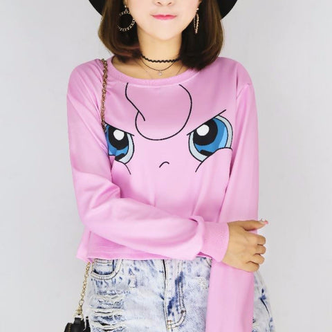 Pokemon Crop Top Long Sleeve SP7289 [6 Styles Available]