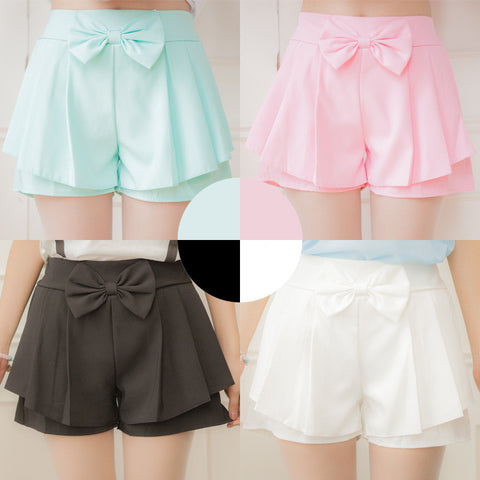 7 Candy Colors Bow Skirt Shorts SS1128 (different colors) - KAWAII COLLECTIONS
