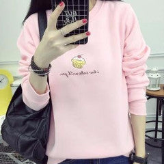 Cupcake Kawaii Sweater Pullover SK1287 [4 Colors Available] - KAWAII COLLECTIONS