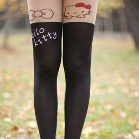 Hello Kitty Pattern Tights SP9802 - KAWAII COLLECTIONS