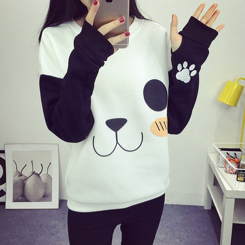 Panda Sweatshirts Casual Printed Mixed TS1072 - KAWAII COLLECTIONS
