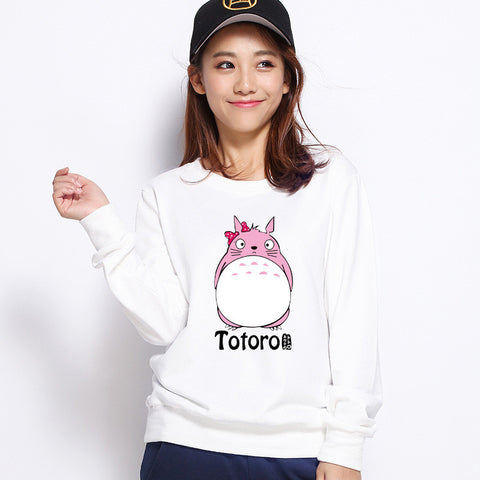 Pink Totoro Bowtie Pullover Sweater SM3786 [Pink/White Available] - KAWAII COLLECTIONS