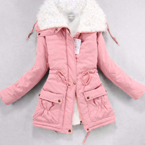 Medium-Long Cotton Parka Coat Outerwear PB2874 [8 Colors Available]