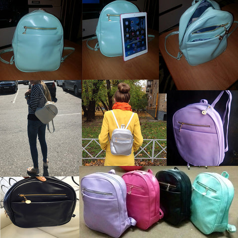 7 Candy Color Backpack Bag BB9027 - KAWAII COLLECTIONS
