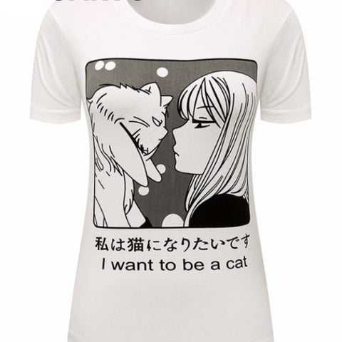 Manga Neko Cat T Shirt CT3768