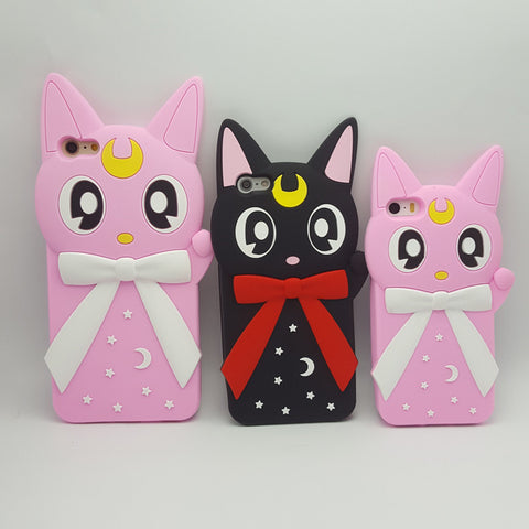 Sailor Moon Luna Cat Silicone Phone Case SP7291 [3 Colors Available]