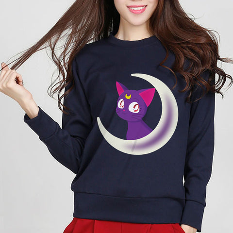Sailor Moon Luna Crescent Sweatshirt SP6338 (extra colors) - KAWAII COLLECTIONS