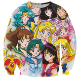 Sailor Moon Squad Pullover Sweatshirt SP2109 - KAWAII COLLECTIONS