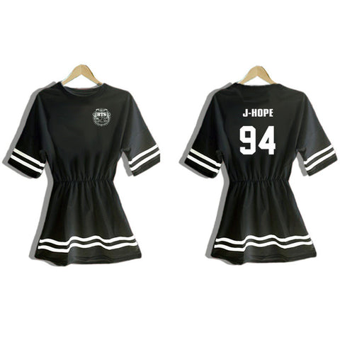 BTS Korea One Size Dress [BLK/WHT]  DS2102 - KAWAII COLLECTIONS