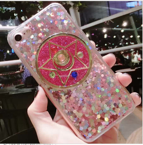 Sailor Moon Star Glitter Phone Case SP7092 [Pink/Silver Available]
