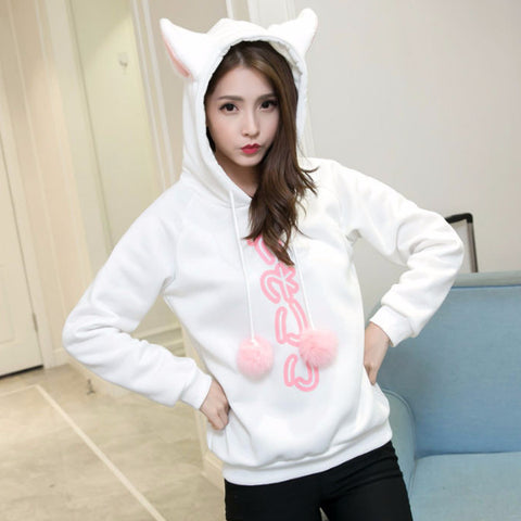 Neko Japanese Print Pullover SW9027 [2 Colors Available]