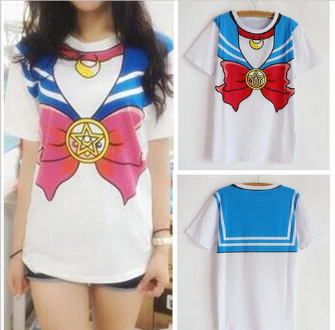 Sailor Moon Print T-Shirt TS4417 [Blue/Pink Available] - KAWAII COLLECTIONS