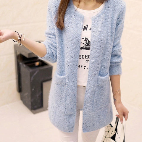 Solid Wool Cardigan Sweater SW3361 (extra colors) - KAWAII COLLECTIONS