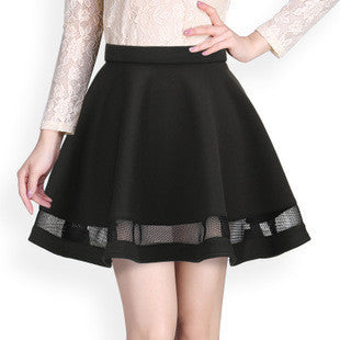 Black/Red Flare Line Skirt TP8461 - KAWAII COLLECTIONS