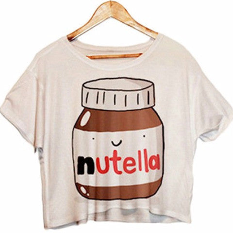 Nutella <3 Crop Top NP6378 - KAWAII COLLECTIONS