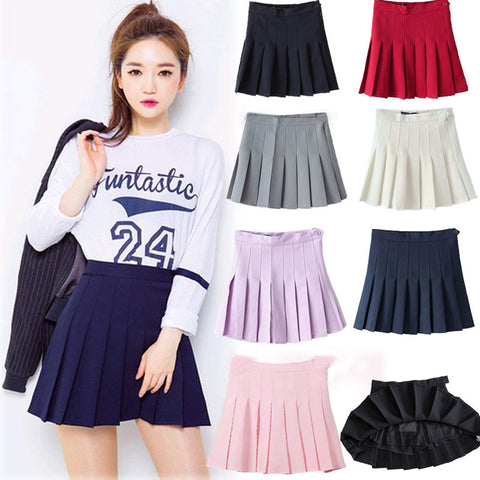 Solid Colors Skirt SW1921 [4 Colors Available] - KAWAII COLLECTIONS