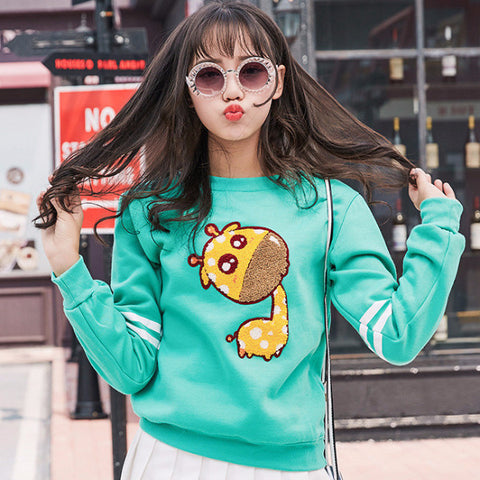 Giraffe Kawaii Pullover Sweater TS6312 - KAWAII COLLECTIONS