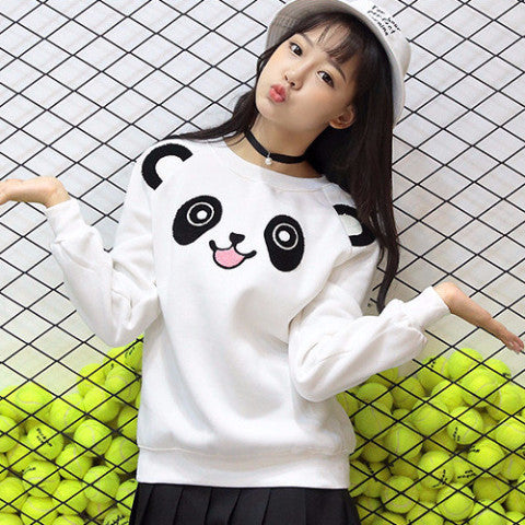Panda White Pullover Sweater TS6313 - KAWAII COLLECTIONS