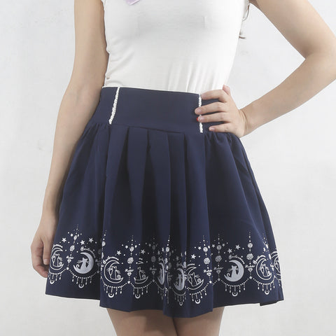 Sailor Moon Cat Anime Kawaii Skirts SK9281 - KAWAII COLLECTIONS