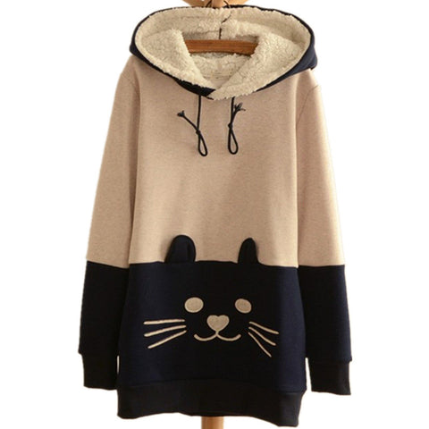 Cat Face Tail Pullover Sweater CP4563 - KAWAII COLLECTIONS