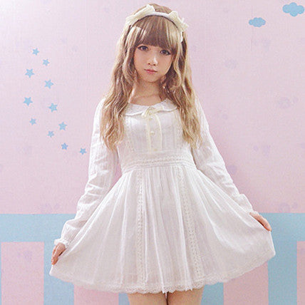 Lolita White Dress Princess PW2637 - KAWAII COLLECTIONS