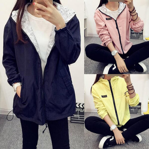 Reversible Light Colored Jacket PB2321[5 Colors Available] - KAWAII COLLECTIONS