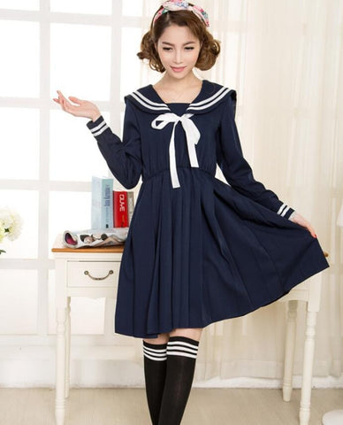 Navy Blue School Uniform Dress SD8372