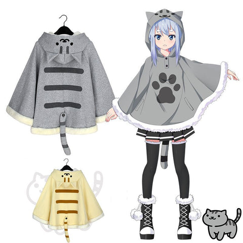 Neko Atsume Cat Fleece Cloak Cape CP6389 [2 Colors Available]