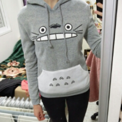 Totoro Hoodie Pullover Sweater TS6381 - KAWAII COLLECTIONS