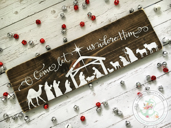 Nativity Wood Sign - CoastalCraftyMama