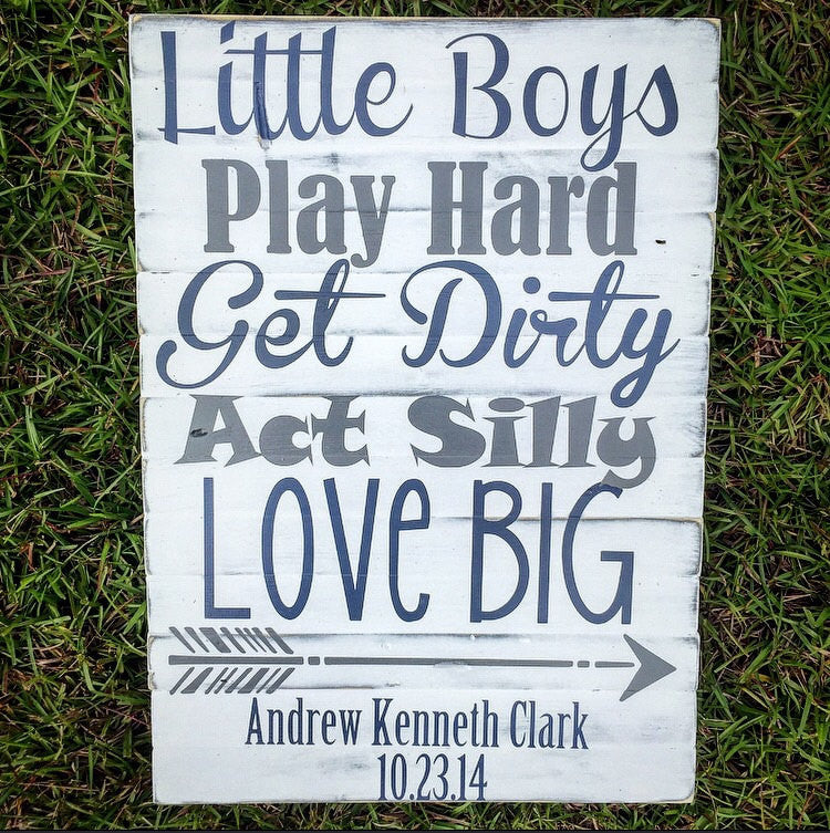 Little Boys Quote Sign