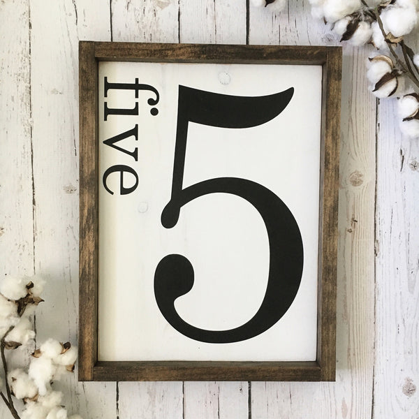 "Family Number Sign- 13x16.5"" - CoastalCraftyMama"