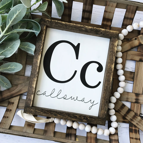 "Flashcard Family Name Mini Sign- 9x11"" - CoastalCraftyMama"