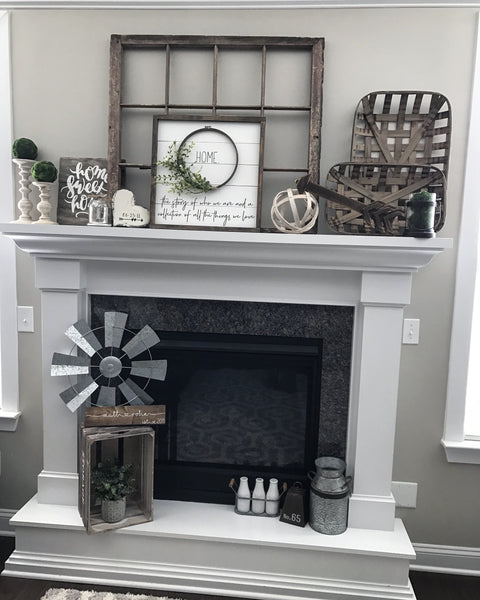 "Personalized Shiplap Wreath Sign- 19x19"" - CoastalCraftyMama"