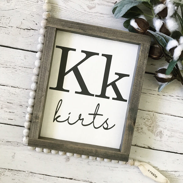 Flashcard Family Name Mini Sign- 9x11""